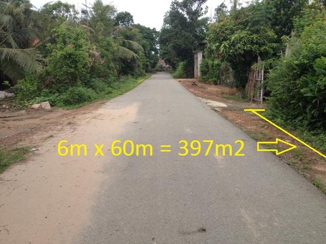 Bán đất mặt tiền đường nhựa 397m2 khu dân cư Thái Mỹ,Củ Chi giá rẻ :150 triệu