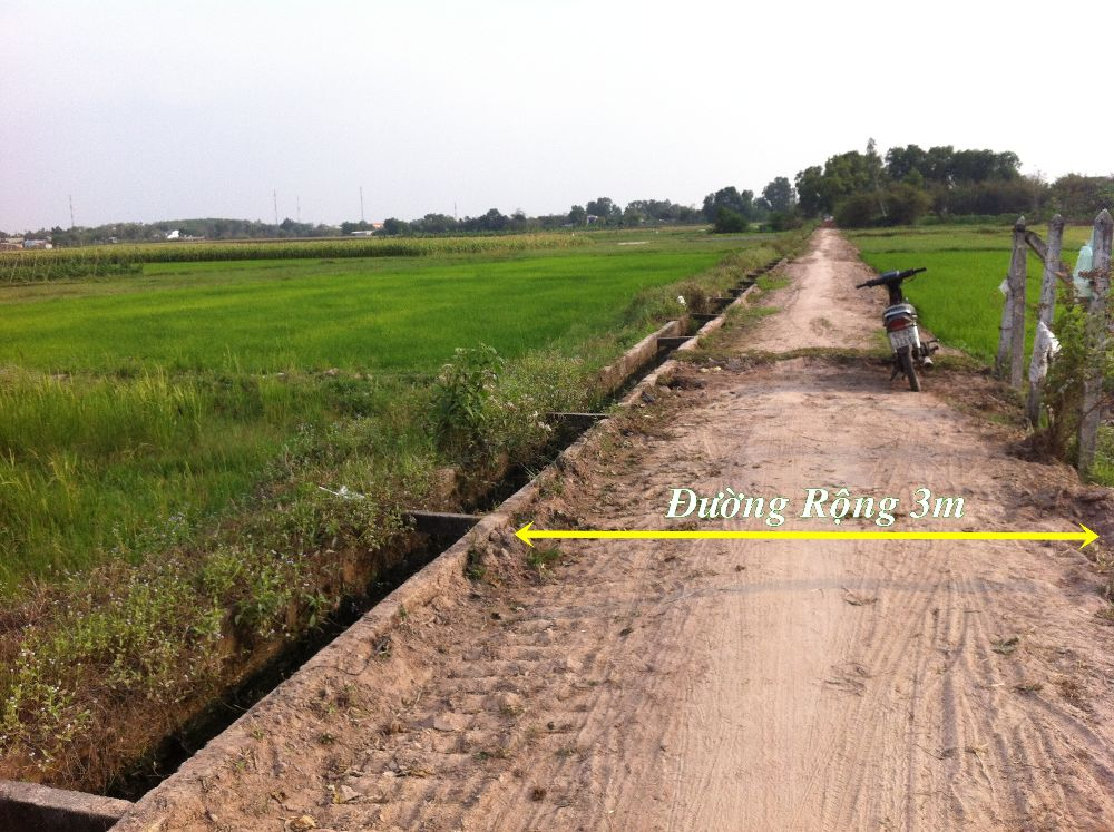Bán đất Vườn Xã  Phước Thạnh - Củ Chi –TP.Hồ Chí Minh (598m2), Giá 190 triệu.