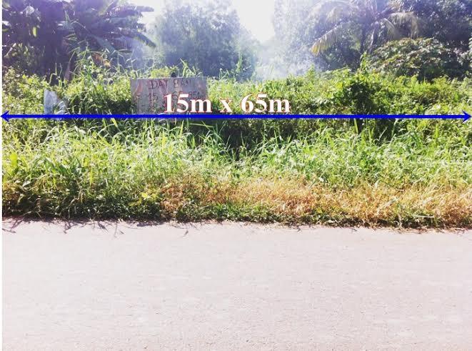 Đất rẻ củ chi, Xã Trung An - Củ Chi- TP.Hồ Chí Minh 15m x 65m ,951m2(300m thổ cư) giá 850tr.