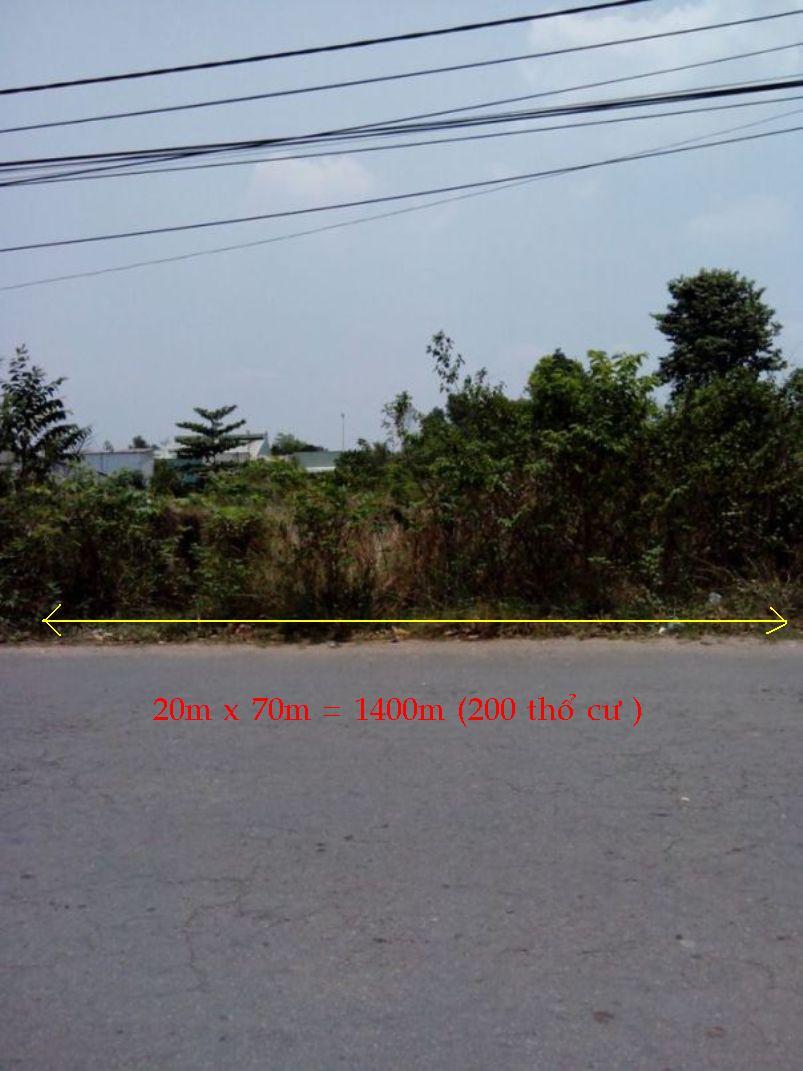 Nhà đất rẻ tp hồ chí minh 1400m2 [200m thổ cư ] (1tr4/1m2),đất mặt tiền  Nguyễn Thị Lắng , Tân Phú Trung,H Củ Chi,TP Hồ Chí Minh.