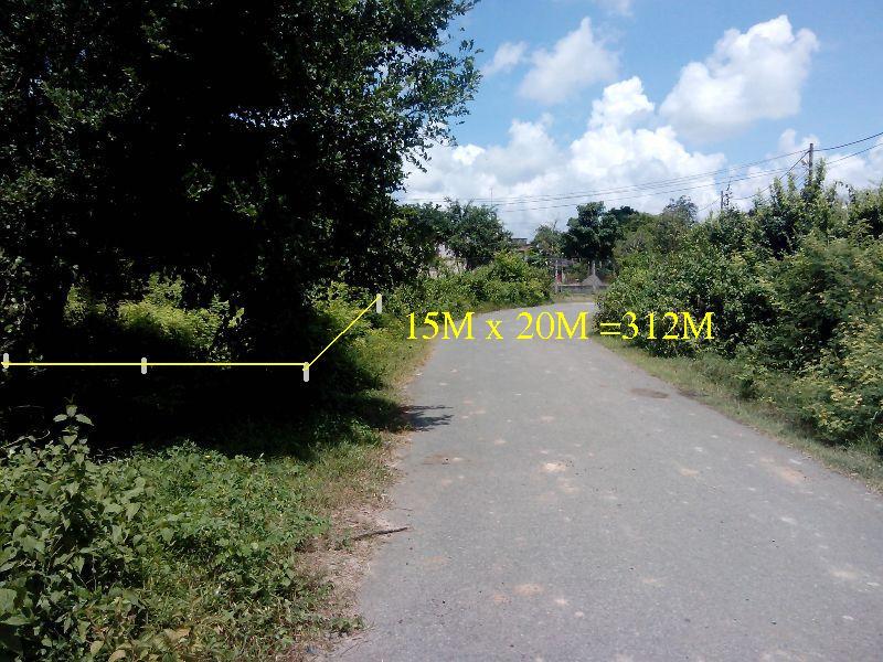 Bán 312m2 đất mặt tiền đường nhựa xã Thái Mỹ,Củ Chi-HCM giá 195 triệu
