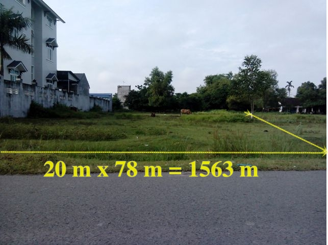 Bán đất nền biệt thự 20 x 78 = 1563m2 Củ Chi giá 1tỷ9
