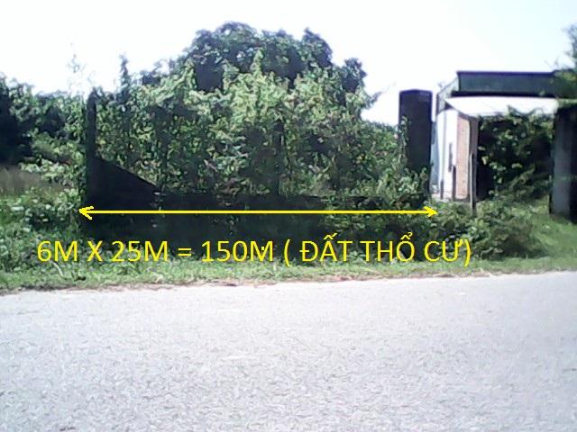 Bán đất thổ cư Củ Chi 150m2 giá 190 triệu