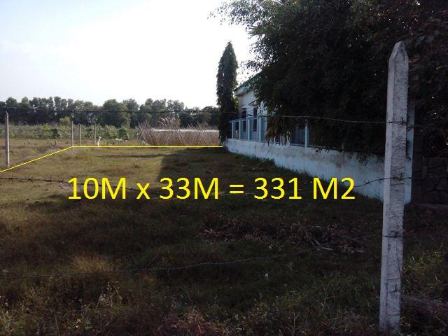 Bán đất thổ cư Củ Chi 10m x 33m = 331m2 giá 550 triệu