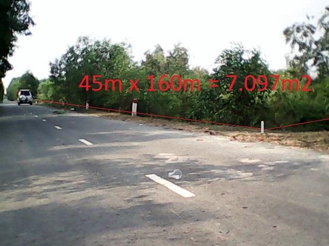 Bán 7.097 m2 đất trang trại mặt tiền đường nhựa Củ Chi giá rẻ 170 ngàn /1m2